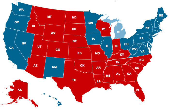 electoral college projection map 2012 Opinion: ten electoral college predictions have obama ahead electoral college projection map from talking points ten 2012 electoral college predictions have.